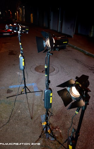 Kit de 3 dedo avec dimmer and gobo.